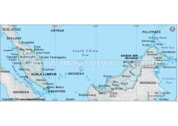 Malaysia Map, Gray