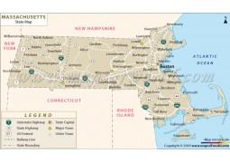 Massachusetts State Map