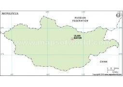 Mongolia Outline Map