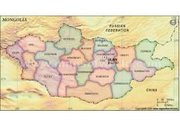 Mongolia States Map