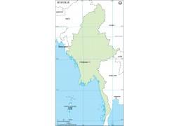 Myanmar Outline Map
