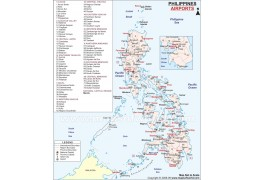 Philippines Airports Map