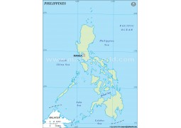 Philippines Outline Map