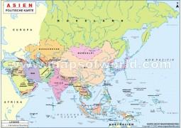 Politische Asienkarte