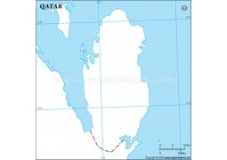 Qatar Outline Map