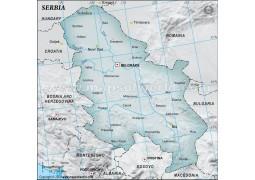 Serbia Map, Gray