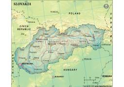 Slovakia Political Map, Green