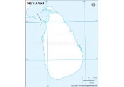 Sri Lanka Outline Map