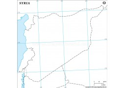 Syria Outline Map