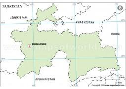Tajikistan Outline Map