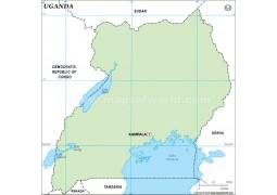 Uganda Outline Map