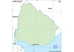 Uruguay Outline Map
