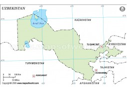 Uzbekistan Outline Map