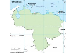 Venezuela Outline Map