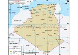Algeria Latitude and Longitude Map