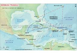 Map of Bermuda Triangle