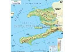 Haiti Physical Map