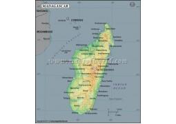 Madagascar Latitude and Longitude Map
