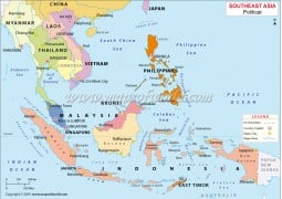 South East Asia Political Map