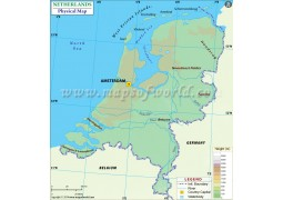 Netherlands Physical Map