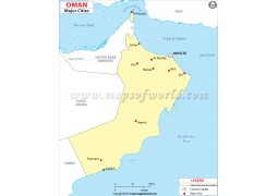 Oman Map with Cities