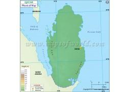 Qatar Physical Map