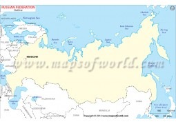 Russia Outline Map