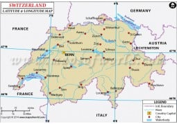 Switzerland Latitude and Longitude Map
