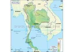 Thailand Physical Map