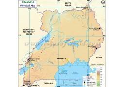 Uganda Physical Map