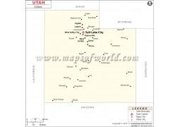 Map of Utah Cities
