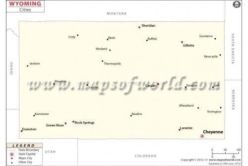 Wyoming Cities Map
