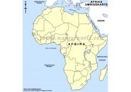 Umrisskarte Afrika