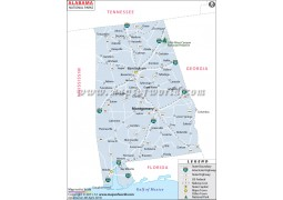 Alabama National Parks Map