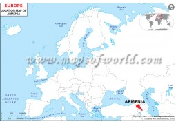 Armenia Location Map