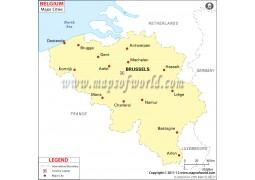 Belgium Map with Cities
