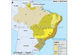 Brazil Climate Map