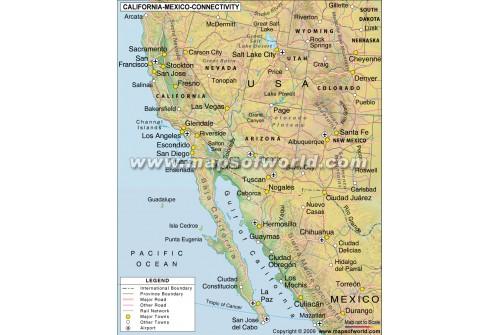 California - Mexico Connectivity Map