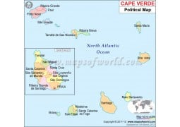 Political Map of Cape Verde