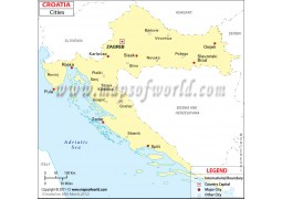 Map ofCroatia with Cities