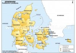 Danemark karte
