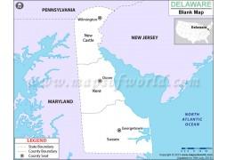 Blank Map of Delaware