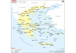Map of Greece with Cities