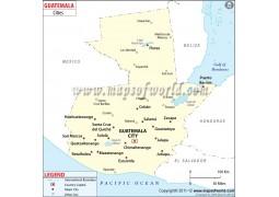 Guatemala Cities Map