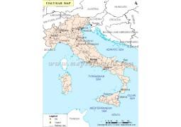 Italy Train Map