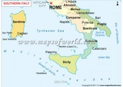 Southern Italy Map