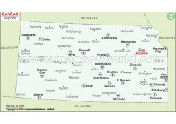 Kansas Airports Map