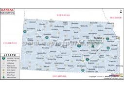 Map of Kansas National Parks