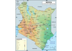 Kenya Latitude and Longitude Map