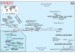 Kiribati Map